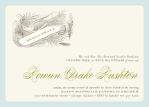Float + Birdie Baptism and Christening Invitations