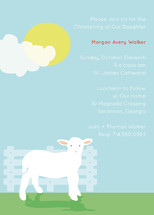 Little Lamb Baptism and Christening Invitations