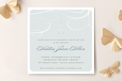 Little Church Baptism and Christening Invitations