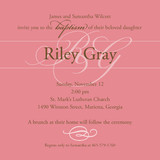 Monogram Baptism and Christening Invitations