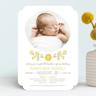 Organic Palms Baptism & Christening Announcements