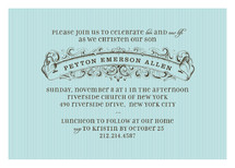 Vintage Banner Baptism and Christening Invitations