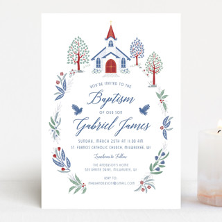 Charming Chapel Surround Baptism & Christening Announcements