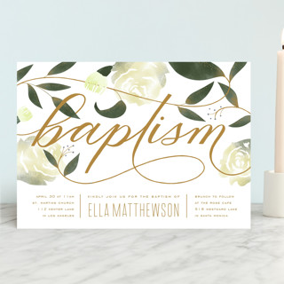 Garden Baptism & Christening Announcements