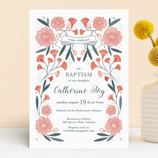 Blooming Garden Baptism Baptism & Christening Announcements