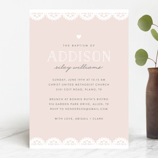 scalloped edge Baptism & Christening Announcements