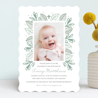 Botanical Baptism & Christening Announcements