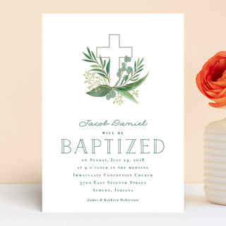 Heaven & Earth Baptism & Christening Announcements