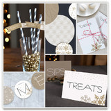 Silver and Gold Party Decor