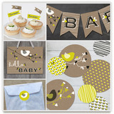 Nesting Bird Party Decor