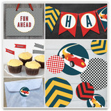 Vintage Race Car Party Decor