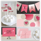 Valentine&#039;s Ombre Love Party Decor