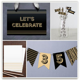 Wood Grain Party Decor