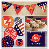 Super Heroes Banner Party Decor