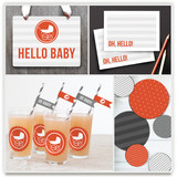 Urban Baby Party Decor
