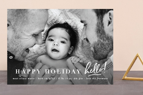 holiday hello Holiday Birth Announcements