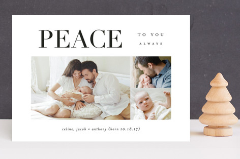 Perfect Peace Holiday Birth Announcements