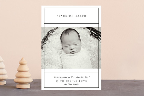 With Merry Love Holiday Birth Announcements