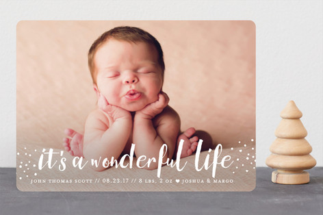 holiday blessings Holiday Birth Announcements