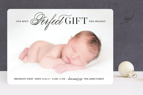 God's Perfect Gift Holiday Birth Announcements