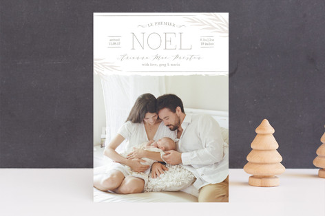 Le Premier Noel Holiday Birth Announcements