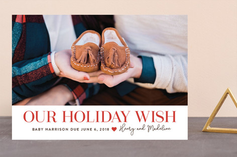 Christmas Wish Holiday Birth Announcements