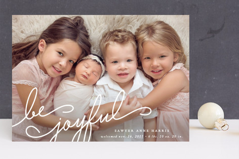Family Joy Holiday Birth Announcements