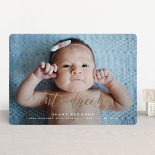 A Classic Introduction Foil-Pressed Birth Announcements
