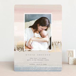 Dawn Hues Foil-Pressed Birth Announcements