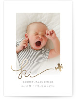 Written in the Clouds Foil-Pressed Birth Announcements