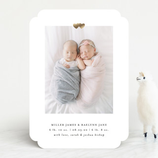 All Our Heart Foil-Pressed Birth Announcements