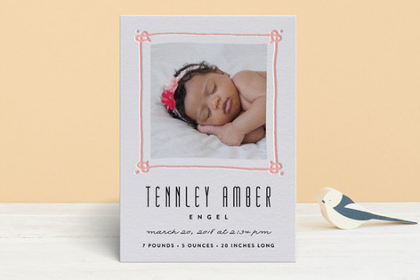 Sweet Frame Letterpress Birth Announcements