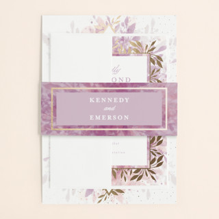 botanical bokeh Foil-Pressed Belly Bands