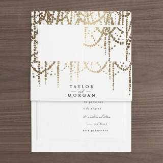 Pearl Garland Foil-Pressed Belly Bands