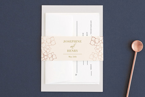 Baby's Breath Foil-Pressed Belly Bands