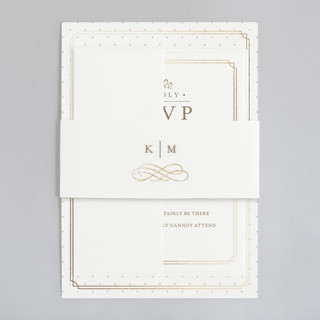 A Glamourous Affair  Foil-Pressed Belly Bands
