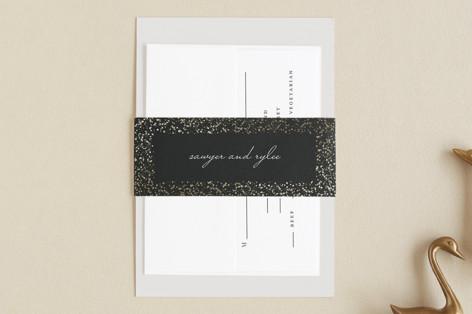 Glittered Wedding Frame Foil-Pressed Belly Bands