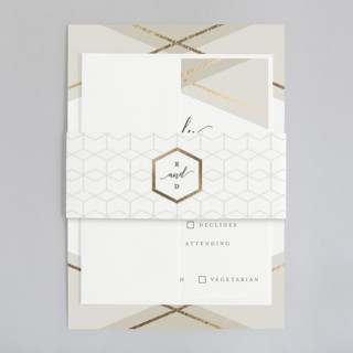Hexagon Foil-Pressed Belly Bands