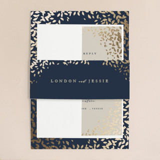 Cascading Corners Foil-Pressed Belly Bands