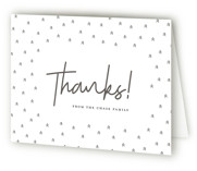 Geometric trees Letterpress Birth Announcements Thank You Cards