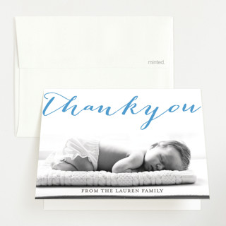 Welcoming Letterpress Birth Announcements Thank You Cards