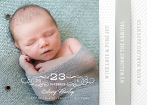 Vintage Baby Birth Announcement Minibook&amp;trade; Cards