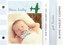 Fly By Baby Birth Announcement Minibook™ Cards