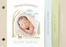 Woodland Beginnings Birth Announcement Minibook&amp;trade; Cards