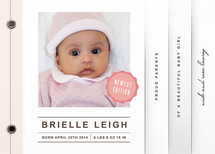 Medal of Honor Birth Announcement Minibook™ Cards