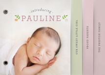 Sweet Pauline Birth Announcement Minibook™ Cards