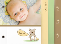Baby Bear Birth Announcement Minibook&amp;trade; Cards