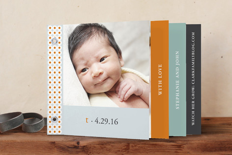 Oh-So-Mod Birth Announcement Minibook&trade; Cards