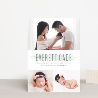 brushed gallery Birth Announcement Petite Cards