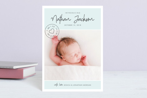 Love Stamp Birth Announcement Petite Cards